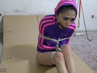 Softcore Restrain bondage - Ashley - hoodie straight-jacket