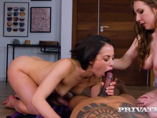 Private - Anastasia Brokelyn, Lina Mercury -  Interracial Threeway