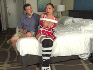 Big Tit Cheerleader Taped and Gagged