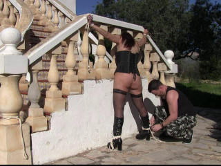 Toaxxx - (tx241) - Outdoor Slapping Lesson for Bettine - June 18, 2016