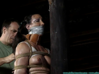 Bondage, spanking, strappado and torture for sexy girl part 2