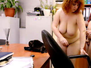bbw redhead mature katrin fucked at the office