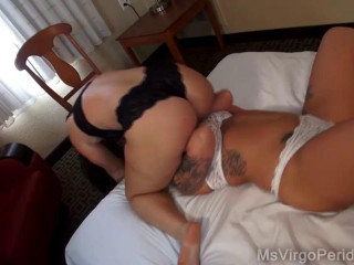 2 busty housewifes teasing each other on the couch