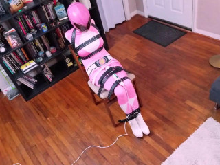Raquel Roper Pink Power Ranger Strapped and Drained