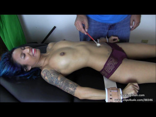 TicklingIsFun Asia Perez Has a Ticklish Belly Button