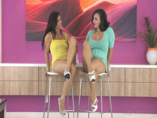 Annie Mae and Tomiko Oiling up