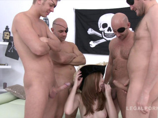 Halloween DP Gangbang Party For Linda Sweet With Triple Anal