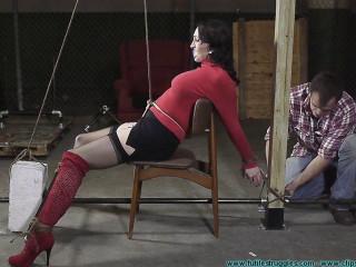 Angelique Kithos is Prepared for Transport - Extreme, Bondage, Caning