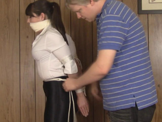 Elizabeth Andrews Latex Denim And Supah Bend High Heel Restrain bondage (2015)