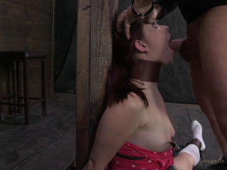 21yr old nymph next door, violently skull fuck, bound in splits