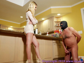 Humiliates And Dominates Her Human Wallet
