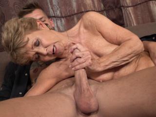 Granny Romana loves dating younger men