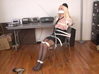 Stewardess Bound in Uniform Danielle Trixie