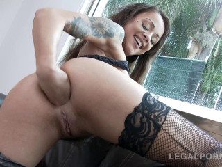 Holly Hendrix ass fucked Dped Daped by two monster cocks (2018)
