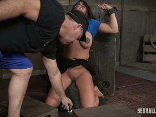 Big tits Girl Next Door has her first Bondage and rough sex