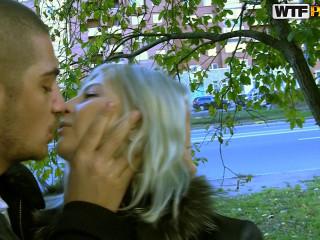Blonde in horny public fuck venture