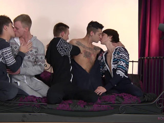 5 Naughty Guys All Glutton for It!
