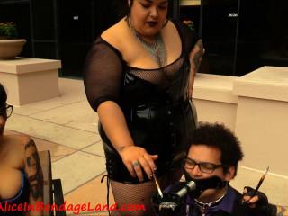 FemDom Convention Human Ashtray Humiliation