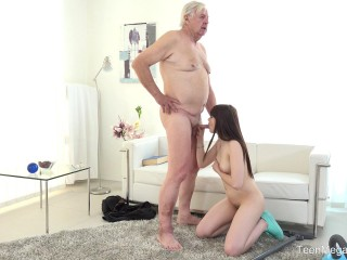 Luna Rival - Old man makes sweetie kneel FullHD 1080p