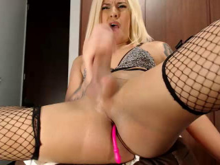 Stroking Her Huge & Fat Cock