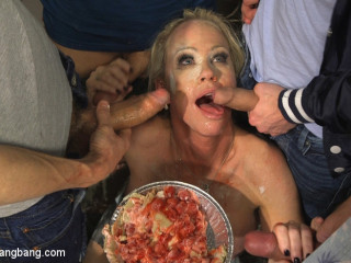 Creaming Pie: Mrs. S gets her MILF fuck-holes boned by her boy's friends!