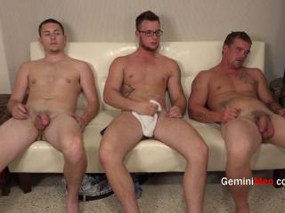 Gemini Men - Alex, Kyle & Johnny Jerk Off