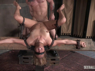 Brutal throat & anal fucking, with amazing bondage