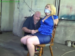 Cruelly bound to her chair with 100' of heavy gauge rope
