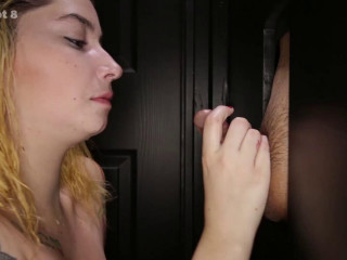 Megan's First Glory Hole Video