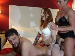 Miss Ecstasy and Olivia Rose - Kiddd Dynamite Gets Dual Teamed - Utter HD 1080p