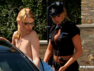 Katalin Gets More than Patted down by Cop Wivien