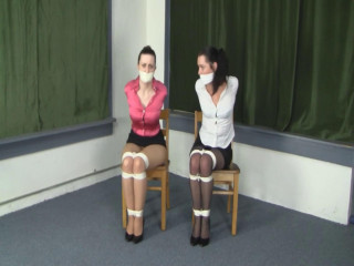 Belle Davis and Serene Isley Angrily Mmppphing Damsels