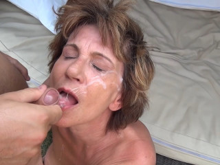 Horny granny invites young guy