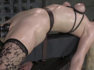 Beautiful blonde Ella Nova bound , HD 720p