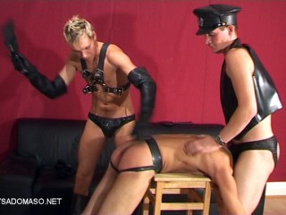 Double Spanking for a Boot-Boy HOTTIE