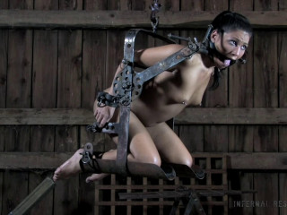 Cock-squeezing bondage, slapping and torment for naked jaw-dropping bitch part 3
