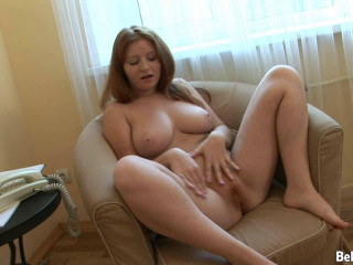 Wondrous big-titted red-haired playthings pubic hair