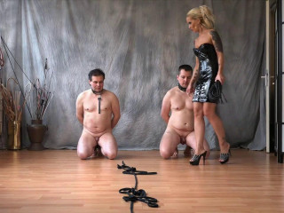 Hard Torture For 2 Slaves - Lady Jasmin - HD 720p
