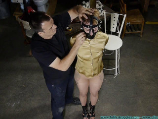 Huge Gags, Drool, and a Reverse Prayer Hogtie for Moxie - Part 1