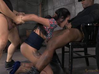 SexuallyBroken - July 02, 2014 -Tiny Raven Bay screws and deep-throats