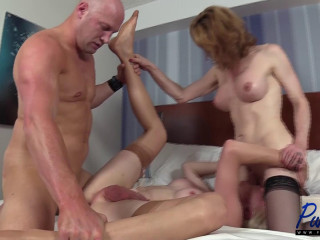 Delia & Staci work their big cocks