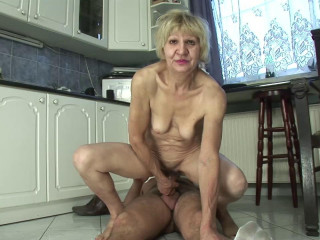 Granny is a slut... She bangs for money!