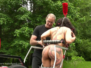 Palace of Gord - Callisto Nude and Caned into action