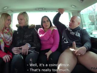 Jennifer - Girlfriends Left One Of Them Enjoy Cock In Driving Van 1080p