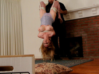 Bound and Ball-gagged -  Hung By Her Hips - Lorelei is Hung Upside Down