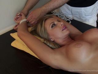 Francesca Tied Gash Fingered To Orgasm - HD 720p