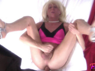 Blonde CD Goes Wild While Getting Fucked - TS Shawnee Gold - Full HD 1080p