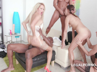 Stiff perversity gangbang with assfuck going knuckle deep
