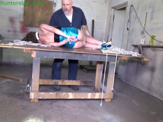 Her brutally tight hogtied brings her to tears