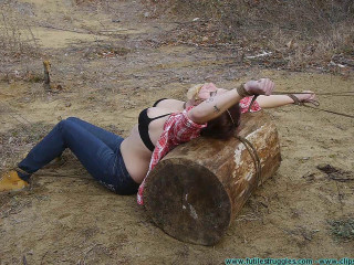 Staked out, Spread Eagle, Back Breaker in the Cold for the Firewood Thief - Part 1